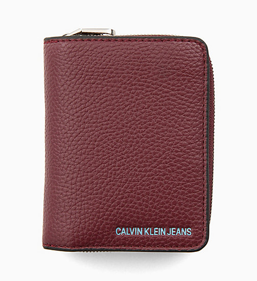 CALVIN KLEIN JEANS French Wallet - TAWNY PORT - CALVIN KLEIN JEANS WALLETS & SMALL ACCESSORIES - main image