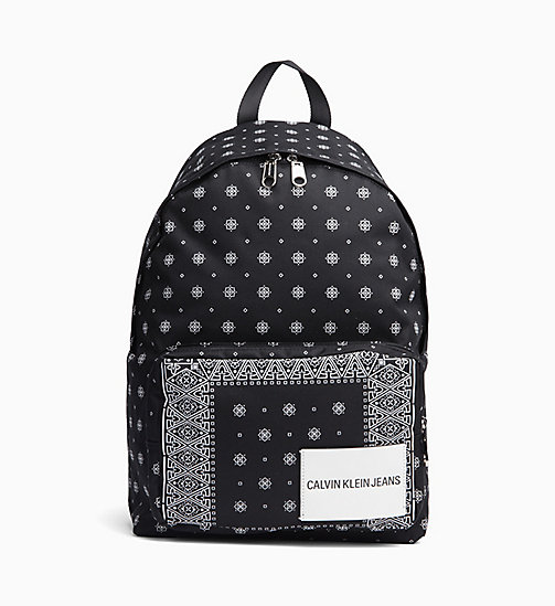 CALVIN KLEIN JEANS Bandana Round Backpack - BANDANA PRINT 2 - CALVIN KLEIN JEANS NEW IN - main image