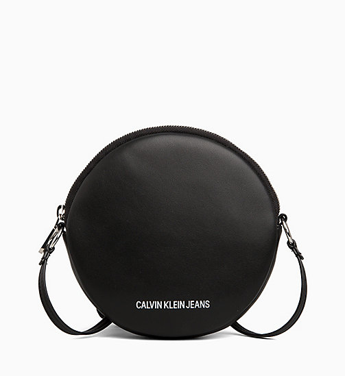 CALVIN KLEIN JEANS Cross Body Circle Bag - BLACK - CALVIN KLEIN JEANS LOGO SHOP - main image