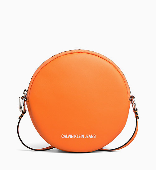CALVIN KLEIN JEANS Cross Body Circle Bag - ORANGE TIGER - CALVIN KLEIN JEANS LOGO SHOP - main image