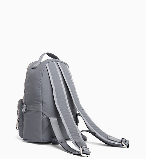 CALVIN KLEIN JEANS Medium Reflective Nylon Backpack - SILVER - CALVIN KLEIN JEANS IN THE THICK OF IT FOR HER - detail image 1