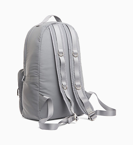 CALVIN KLEIN JEANS Large Reflective Nylon Backpack - SILVER - CALVIN KLEIN JEANS BACKPACKS - detail image 1
