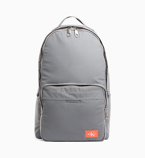 CALVIN KLEIN JEANS Large Reflective Nylon Backpack - SILVER - CALVIN KLEIN JEANS BACKPACKS - main image