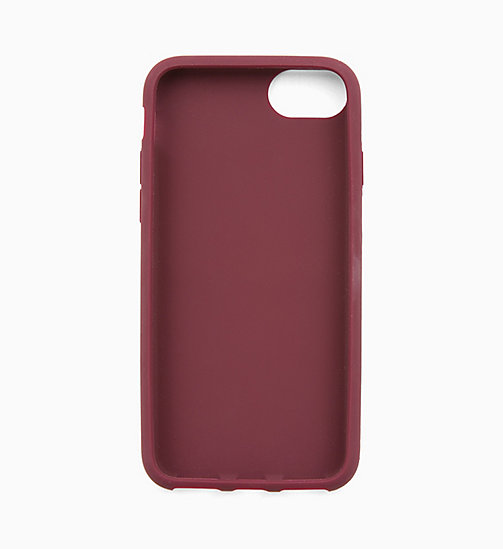 CALVIN KLEIN JEANS Silicone iPhone 8 Case - TAWNY PORT - CALVIN KLEIN JEANS WALLETS & SMALL ACCESSORIES - detail image 1