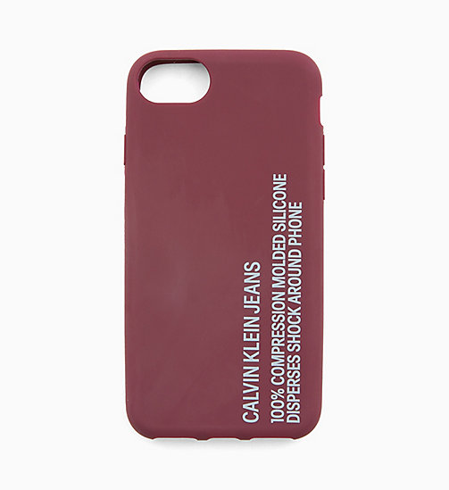 CALVIN KLEIN JEANS Silicone iPhone 8 Case - TAWNY PORT - CALVIN KLEIN JEANS WALLETS & SMALL ACCESSORIES - main image
