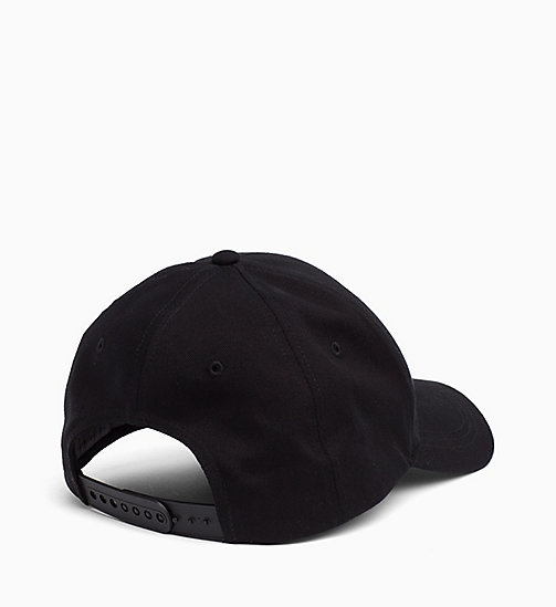 CALVIN KLEIN JEANS Cotton Twill Cap - BLACK BEAUTY - CALVIN KLEIN JEANS LOGO SHOP - detail image 1