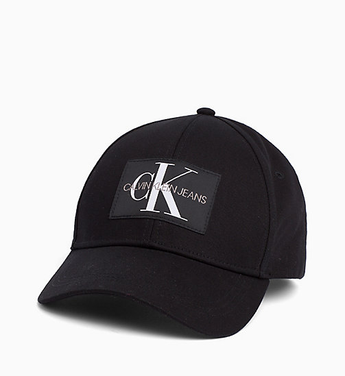 CALVIN KLEIN JEANS Cotton Twill Cap - BLACK BEAUTY - CALVIN KLEIN JEANS LOGO SHOP - main image