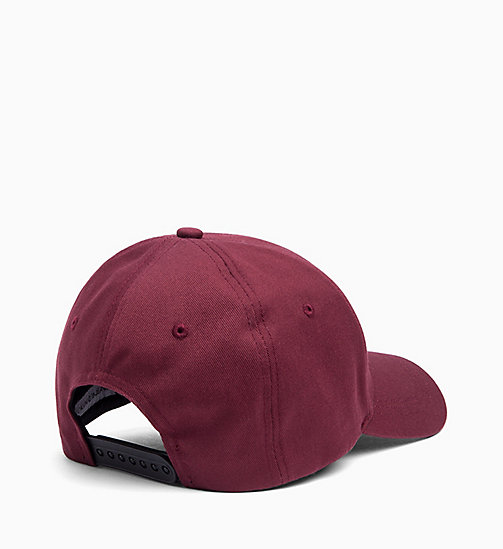 CALVIN KLEIN JEANS Cotton Twill Cap - TAWNY PORT - CALVIN KLEIN JEANS SHOES & ACCESSORIES - detail image 1