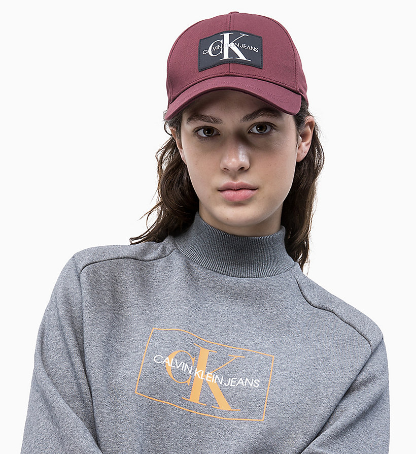 CALVIN KLEIN JEANS Cotton Twill Cap - BLACK BEAUTY - CALVIN KLEIN JEANS WOMEN - detail image 2