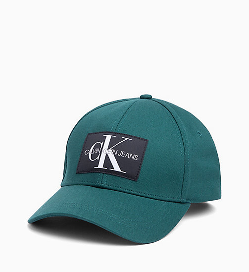 CALVIN KLEIN JEANS Cotton Twill Cap - JUNE BUG - CALVIN KLEIN JEANS HATS - main image