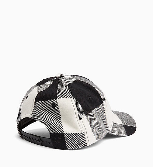 CALVIN KLEIN JEANS Wool Check Cap - BLACK & WHITE CHECK - CALVIN KLEIN JEANS NEW IN - detail image 1