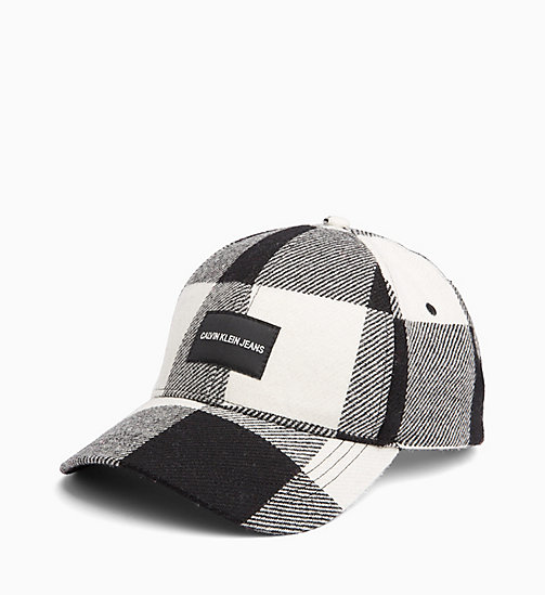 CALVIN KLEIN JEANS Wool Check Cap - BLACK & WHITE CHECK - CALVIN KLEIN JEANS NEW IN - main image