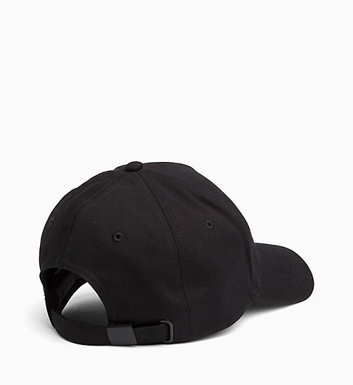 CALVIN KLEIN JEANS Cotton Twill Cap - BLACK BEAUTY - CALVIN KLEIN JEANS BOLD GRAPHICS - detail image 1