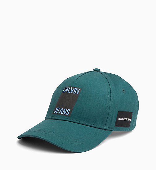 CALVIN KLEIN JEANS Cotton Twill Cap - JUNE BUG - CALVIN KLEIN JEANS LOGO SHOP - main image