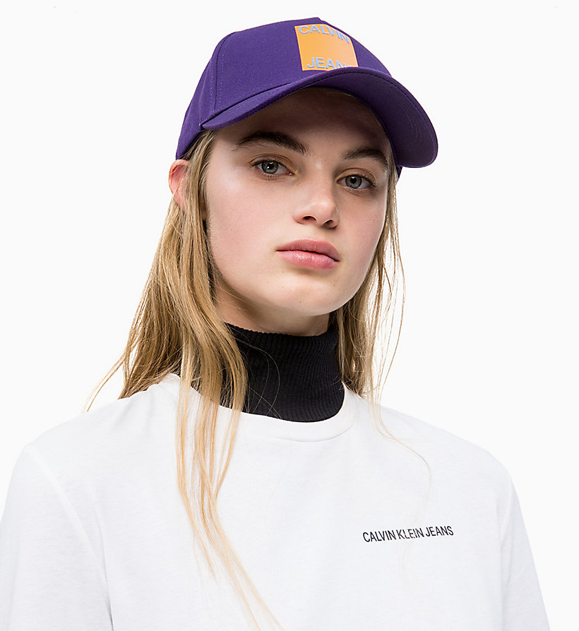 CALVIN KLEIN JEANS Cotton Twill Cap - JUNE BUG - CALVIN KLEIN JEANS WOMEN - detail image 2