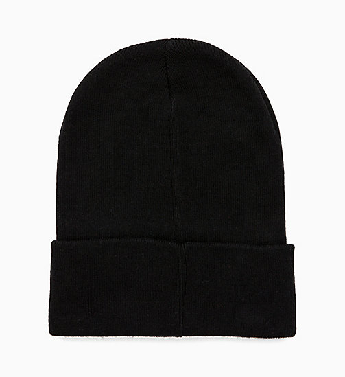 CALVIN KLEIN JEANS Wool Blend Logo Beanie - BLACK BEAUTY - CALVIN KLEIN JEANS BOLD GRAPHICS - detail image 1