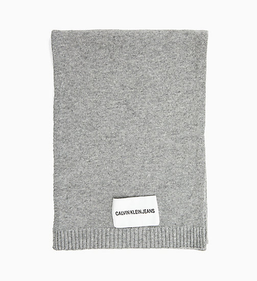 CALVIN KLEIN JEANS Wool Blend Scarf - MID GREY HEATHER B38 - VOL39 - CALVIN KLEIN JEANS MEN - main image