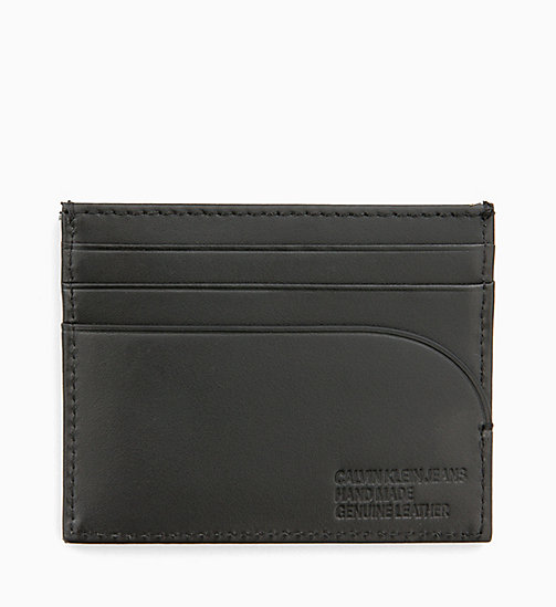 CALVIN KLEIN JEANS Leather Cardholder - BLACK -  LOGO SHOP - detail image 1