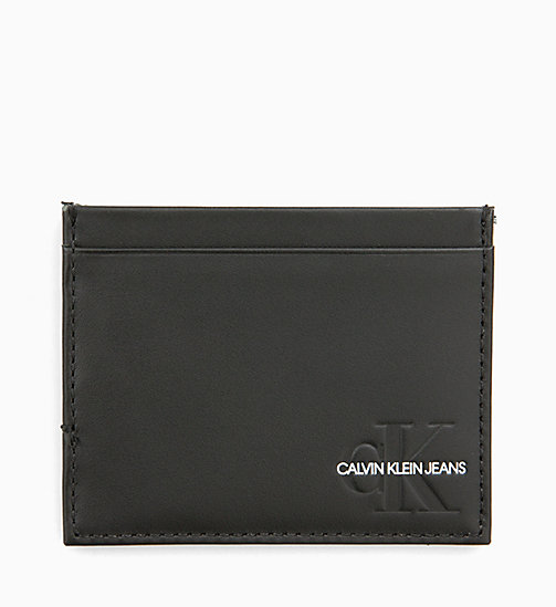 CALVIN KLEIN JEANS Leather Cardholder - BLACK -  LOGO SHOP - main image