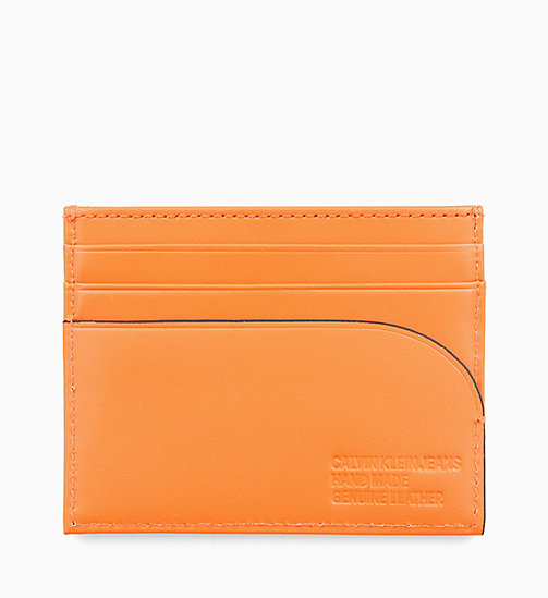 CALVIN KLEIN JEANS Leather Cardholder - ORANGE TIGER - CALVIN KLEIN JEANS LOGO SHOP - detail image 1
