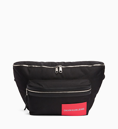 CALVIN KLEIN JEANS Oversized Bum Bag - BLACK - CALVIN KLEIN JEANS CROSSOVER BAGS - main image