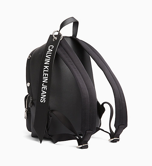 CALVIN KLEIN JEANS Medium Logo Banner Backpack - BLACK - CALVIN KLEIN JEANS BACKPACKS - detail image 1