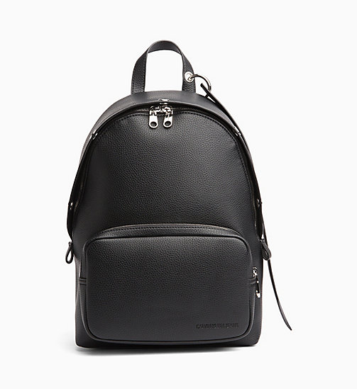 CALVIN KLEIN JEANS Medium Logo Banner Backpack - BLACK - CALVIN KLEIN JEANS NEW IN - main image