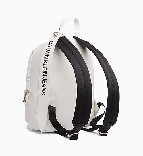 CALVIN KLEIN JEANS Medium Logo Banner Backpack - BRIGHT WHITE - CALVIN KLEIN JEANS BACKPACKS - detail image 1