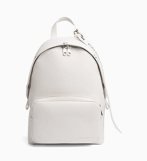 CALVIN KLEIN JEANS Medium Logo Banner Backpack - BRIGHT WHITE - CALVIN KLEIN JEANS BACKPACKS - main image