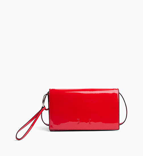CALVIN KLEIN JEANS Patent Clutch - HIGH RISK SPECCIO - CALVIN KLEIN JEANS BAGS - main image