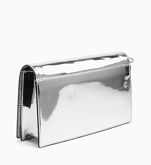 CALVIN KLEIN JEANS Patent Clutch - SILVER SPECCIO - CALVIN KLEIN JEANS CLUTCH BAGS - detail image 1