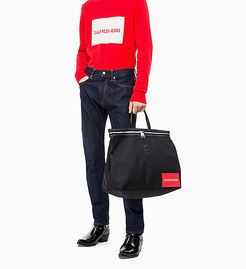 CALVIN KLEIN JEANS Packable Weekend Tote Bag - BLACK - CALVIN KLEIN JEANS NEW IN - detail image 1