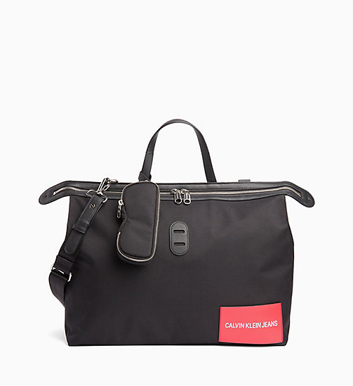 New Calvin Klein Jeans Packable Weekend Tote Bag Black In