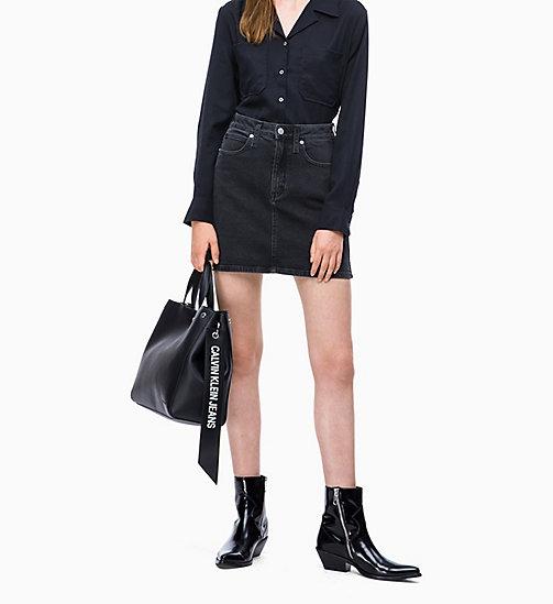 Calvin Klein Jeans Logo Banner Tote Bag Black