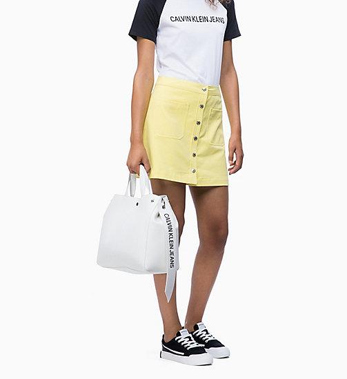 Calvin Klein Jeans Logo Banner Tote Bag Bright White