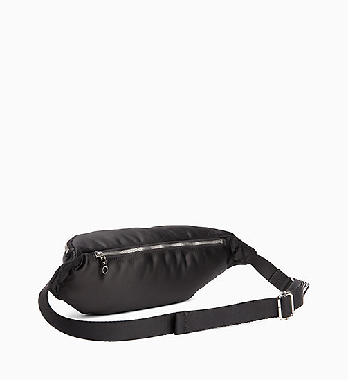 CALVIN KLEIN JEANS Satin Bum Bag - BLACK - CALVIN KLEIN JEANS NEW IN - detail image 1