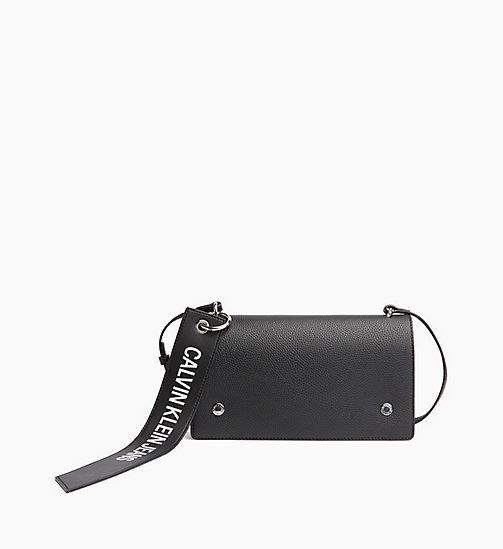 CALVIN KLEIN JEANS Logo Banner Flap Cross Body Bag - BLACK - CALVIN KLEIN JEANS LOGO SHOP - main image
