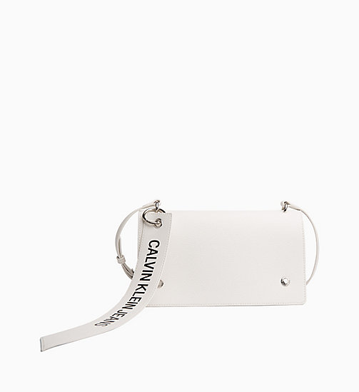CALVIN KLEIN JEANS Logo Banner Flap Cross Body Bag - BRIGHT WHITE - CALVIN KLEIN JEANS LOGO SHOP - main image