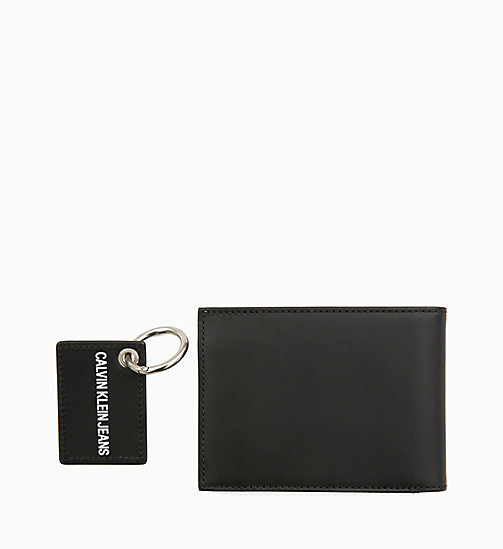 CALVIN KLEIN JEANS Wallet and Keyring Giftbox - BLACK - CALVIN KLEIN JEANS WALLETS & SMALL ACCESSORIES - detail image 1