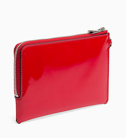 CALVIN KLEIN JEANS Patent Wristlet Pouch - HIGH RISK SPECCIO - CALVIN KLEIN JEANS WALLETS & SMALL ACCESSORIES - detail image 1