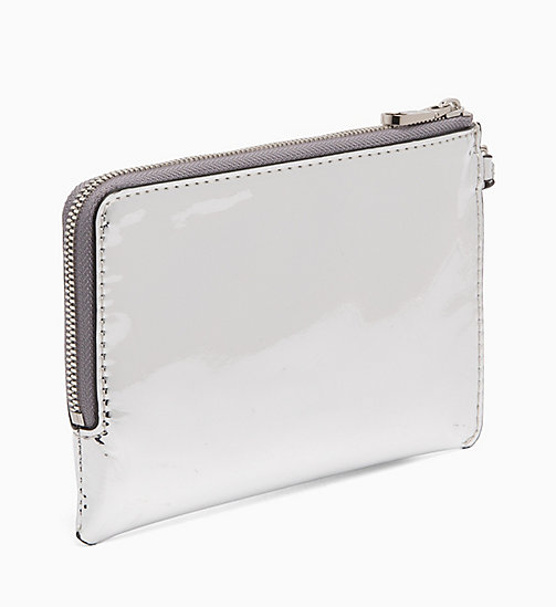 CALVIN KLEIN JEANS Patent Wristlet Pouch - SILVER SPECCIO - CALVIN KLEIN JEANS NEW IN - detail image 1