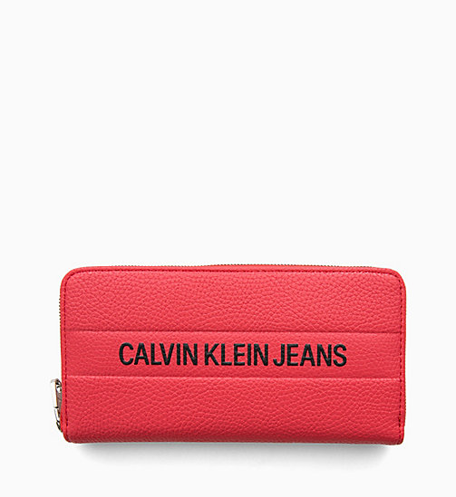 CALVIN KLEIN JEANS Logo Large Zip-Around Wallet - HIGH RISK - CALVIN KLEIN JEANS NEW IN - detail image 1