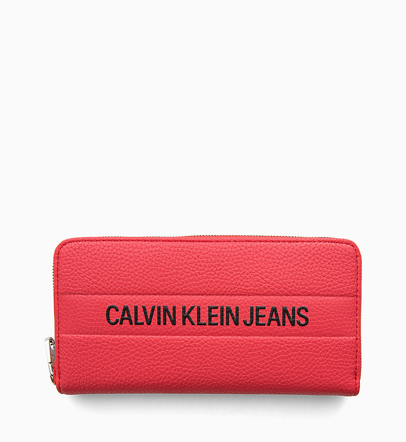 CALVIN KLEIN JEANS Logo Large Zip-Around Wallet - BLACK - CALVIN KLEIN JEANS WOMEN - detail image 1