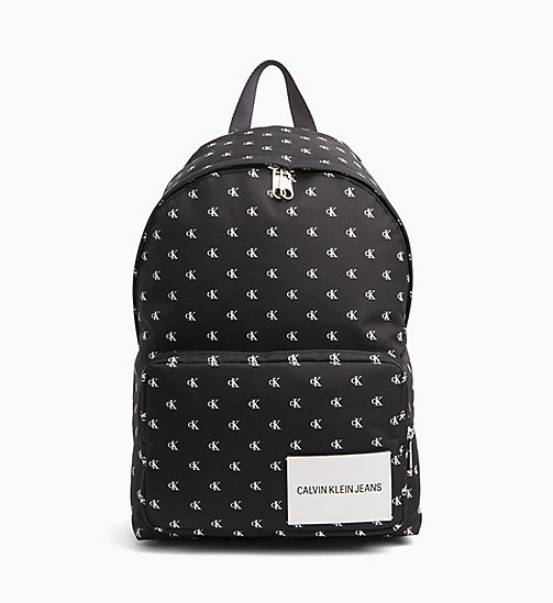 CALVIN KLEIN JEANS Monogram Backpack - BLACK / WHITE - CALVIN KLEIN JEANS BACKPACKS - main image