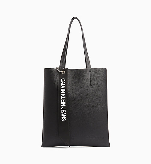 New Calvin Klein Jeans Logo Banner Medium Tote Bag Black