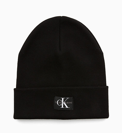 CALVIN KLEIN JEANS Monogram Beanie - BLACK BEAUTY - CALVIN KLEIN JEANS NEW IN - detail image 1
