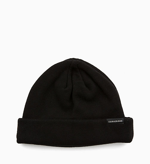 CALVIN KLEIN JEANS Sailor Beanie - BLACK BEAUTY - CALVIN KLEIN JEANS MEN - detail image 1