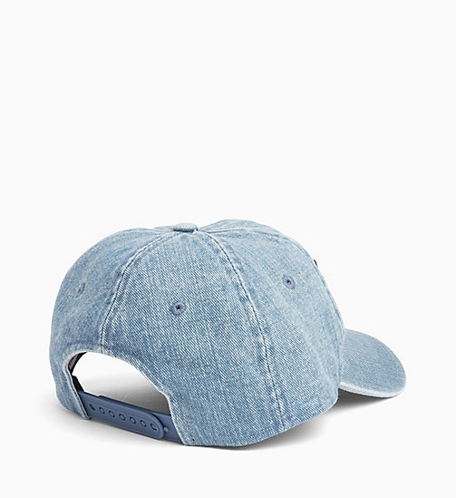 CALVIN KLEIN JEANS Cotton Twill Cap - LIGHT WASH DENIM - CALVIN KLEIN JEANS HATS - detail image 1