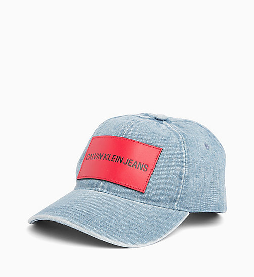 CALVIN KLEIN JEANS Cotton Twill Cap - LIGHT WASH DENIM - CALVIN KLEIN JEANS HATS - main image
