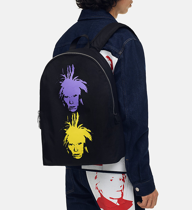 CALVIN KLEIN JEANS Warhol Portrait Campus Backpack - OFF WHITE POP - CALVIN KLEIN JEANS WOMEN - detail image 4